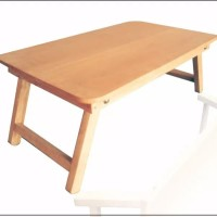 Harga meja kayu lipat laptop belajar anak kost kuat foldable table | Hargalu.com