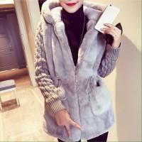 Jaket Bulu tebal musim dingin wanita/Winter fur jacket coat women