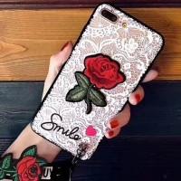 Softcase TPU 3D Flower Cute Rose Unik Cover Case Casing HP Vivo Y65