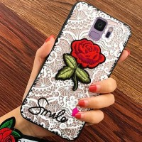 Softcase TPU 3D Flower Cute Rose Cover Case Casing HP Samsung A8 2018