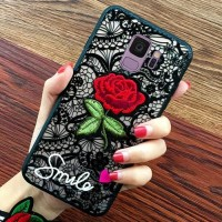 Softcase TPU 3D Flower Rose Cover Case Casing HP Samsung A8 Plus 2018