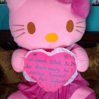 Jual Boneka Hello Kitty Super Jumbo Bordir Nama Murah