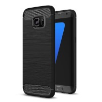 iPaky Carbon Fiber Slim Soft Case Samsung Galaxy S6 S7 S8 S9 Edge Plus