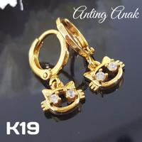 K019 Anting Anak Xuping Yaxiya - Perhiasan Lapis Emas 18K