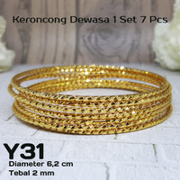 Y31 Gelang Keroncong Xuping Yaxiya - Perhiasan Lapis Emas 18K