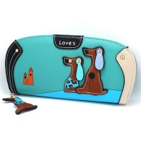 Dompet Wanita Dog Pattern - WW00383 - Blue