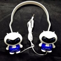 Headset Vivo Stereo Headphone handsfree Boneka Oppo Big Bass