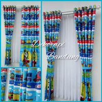 Harga gorden karakter anak jendela dekorasi kamar anak thomas | Pembandingharga.com