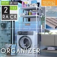 Rak Mesin Cuci Organizer 2 Layer Cover Storage Portable 160 x 63 x 26