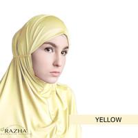 Inner Syari Classic Razha yellow hijab kuning