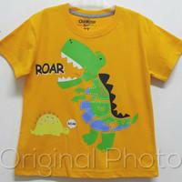 Kaos Karakter Anak Dino Roar Kuning sz 1-6 Model Oshkosh
