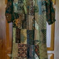 Dress gamis batik lawasan batik lawas khas jogja