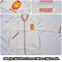 Baju Koko Iron Man Merah Size S PROMO