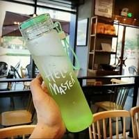 Botol minum Kaca Hello Master bonus pouch Botol Kaca Minum free Sarung