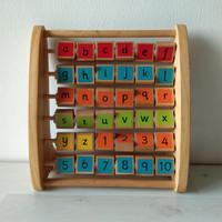 Mainan Edukatif Alphabet merk ELC dari Bahan Kayu