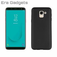 Case Samsung Galaxy J4 J6 2018 Carbon Slim Silicone Softcase Casing