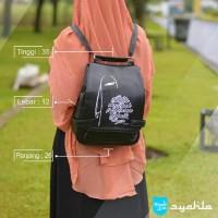 Backpack Tas Ransel Muslimah - Wanita Islami Punggung Hitam Mu AFA8170