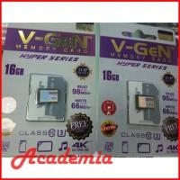 MicroSD V-GeN HYPER Series U3 4K UHD Ultra HD 16GB 98MB/s DSLR GoPro