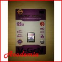 SDXC V-gen 128GB HYPER Series Vgen 128 GB V GEN 4K DSLR CAMDIG 98MB/s