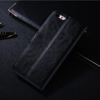 Casing HP LEATHER FLIP WALLET Oppo A71 dompet kulit premium Terbaru