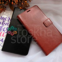 Casing HP Wallet Oppo F5 Flip Premium Leather card slots Terbaru