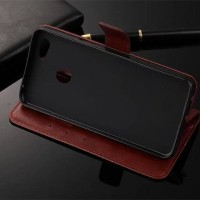Casing HP LEATHER FLIP WALLET Oppo F5 Youth Pro kulit dompet Terbaru