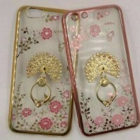 Casing HP Soft Flower List Diamond Ring Oppo Neo 7 A33W Terbaru