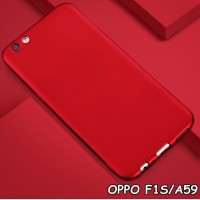 Casing HP FOR OPPO F1S A59 SOFT SILIKON RED MATTE FEEL SOFT Terbaru