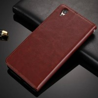 Casing HP Oppo A37 Retro Flip PU Leather Luxury Wallet Case Terbaru