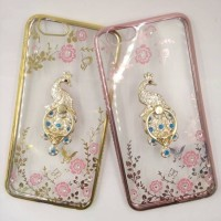 Casing HP Soft Flower List Diamond Chrome Ring Oppo F1S A59 Terbaru