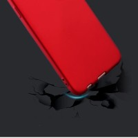 Casing HP FOR OPPO A39 A57 SOFT SILIKON RED MATTE FEEL SOFT Terbaru