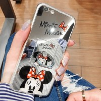Casing HP FOR OPPO A39 A57 MINNIE MOUSE MIRROR I RING SOFT SILIKON Te