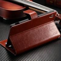 New Casing HP FLIP WALLET Vivo V7 hp dompet kulit premium leather