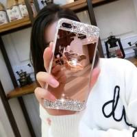 New Casing HP Vivo V7 Plus Luxury Bling Diamond Crystal Soft Mirror R