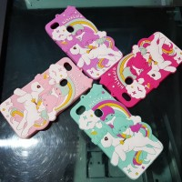 New Casing HP Silicon soft3D unicorn vivo v9 y71 v7 y51