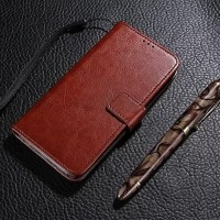 New Casing HP Vivo V9 TERBARU FLIP LEATHER WALLET DOMPET