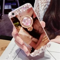 New Casing HP VIVO V7 Diamond TERBARU Mirror luxury Swarovky RINGS