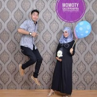 Maxi dress hamil lucu unik murah momoty bp2 hitam