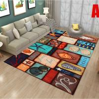 European Style Small Modern Minimalis Carpet/Karpet Bulu Beludru A B C