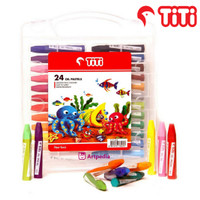 TITI Oil Pastels 24 Warna / Crayon Oil Pastels Set 24