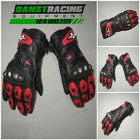 Sarung tangan motor kulit alpinestar merah murah not dainese,hrp