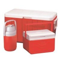 3-Piece 48 Quart Cooler Combo RED
