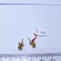 Anting giwang emas kuning 70% berat 1 gram model pentol. Yellow gold