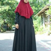Gamis Katun Toyobo A Line Maxi Dress Black