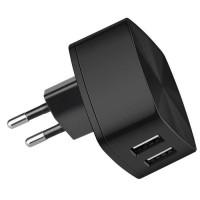 HOCO Charger USB Dual Port 2.4A EU Plug - C26A - Hitam