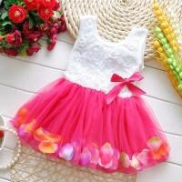 PROMO - BAJU ULANG TAHUN ANAK BAYI PEREMPUAN PESTA DRESS ROK BUNGA