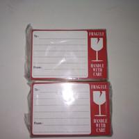 Sticker pengiriman online shop fragile