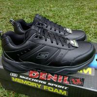ORIGINAL 100% Sepatu Skechers Sports Haniger 58355BBK Full Hitam