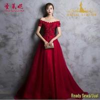 Sewa jual gaun pesta merah surabaya murah