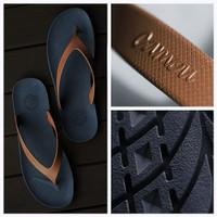 Sandal jepit camou original navy blue sendal japit flip flop